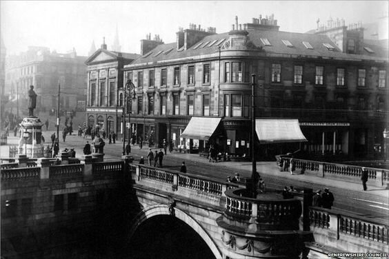 Paisley The Cross and Bridge looking from the Town Hall.jpg